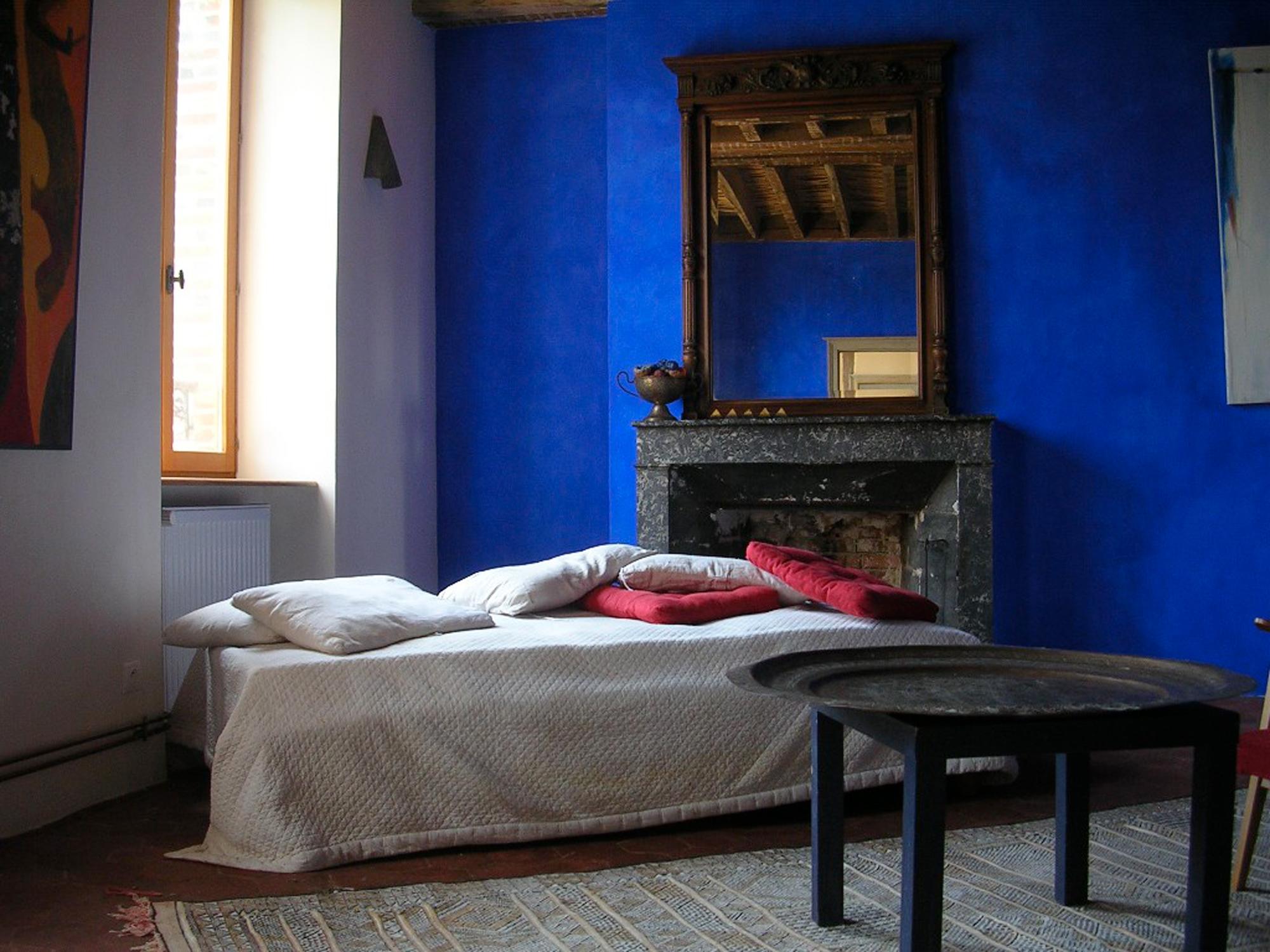 chambre bleue réaménagée