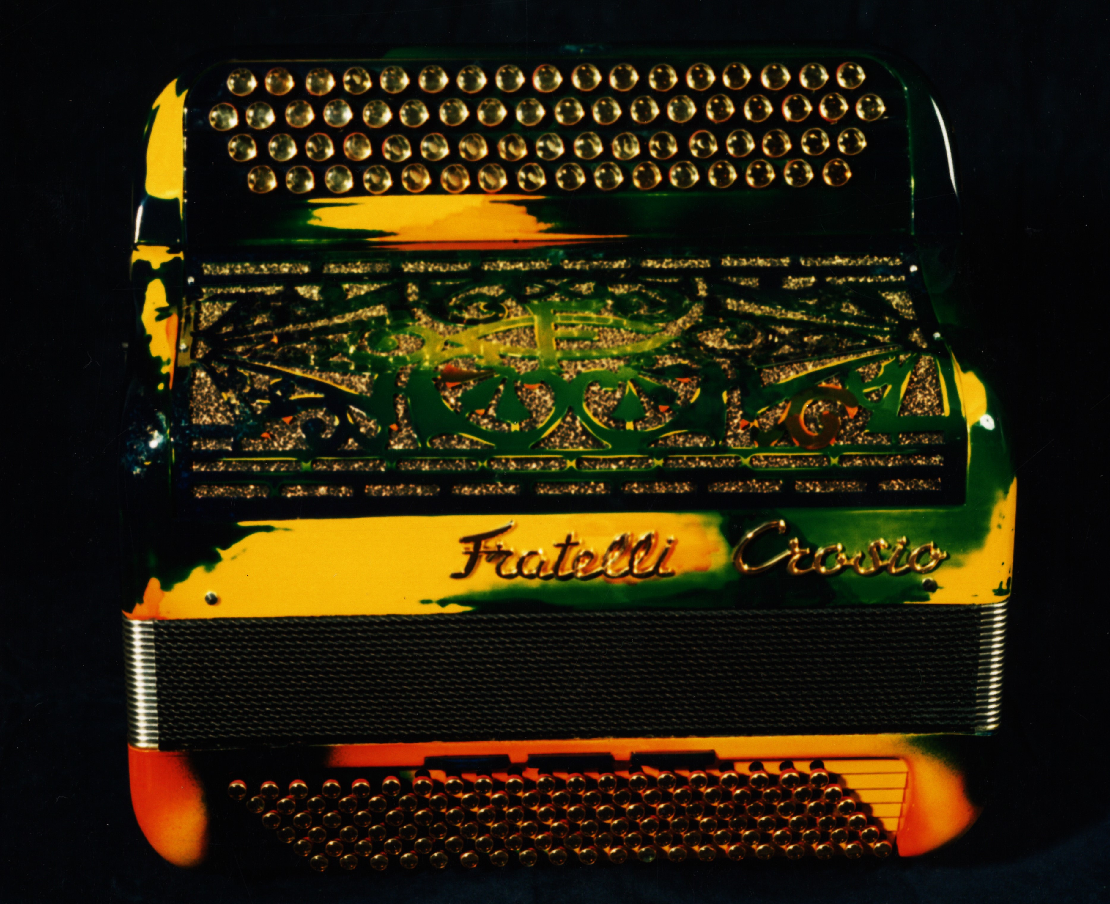 Laquage d'un accordéon